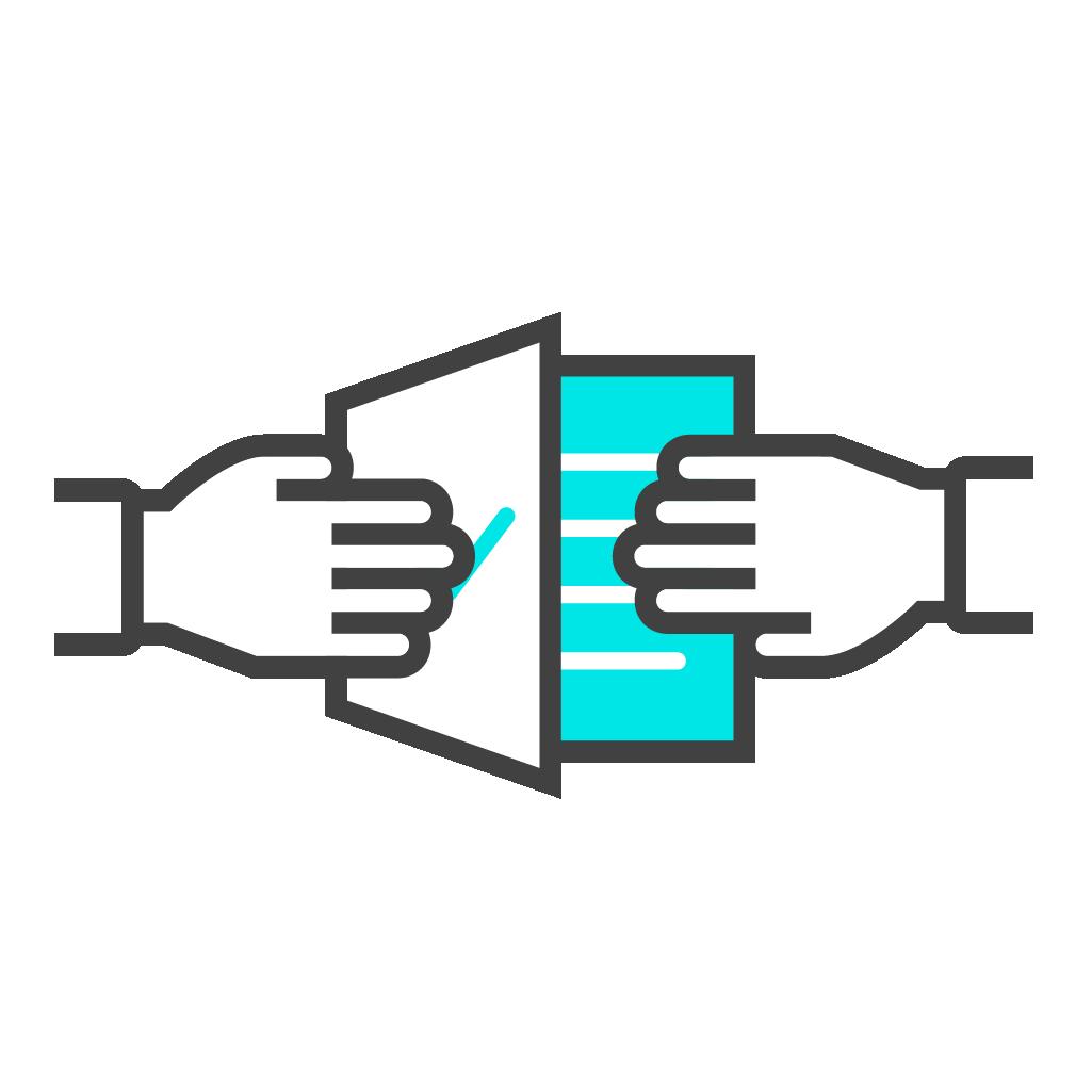 Icone partage de documents
