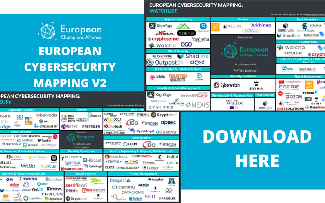 European Champions Alliance / Watcha est nommée pour la deuxième fois dans la V2 du mapping de la ECA