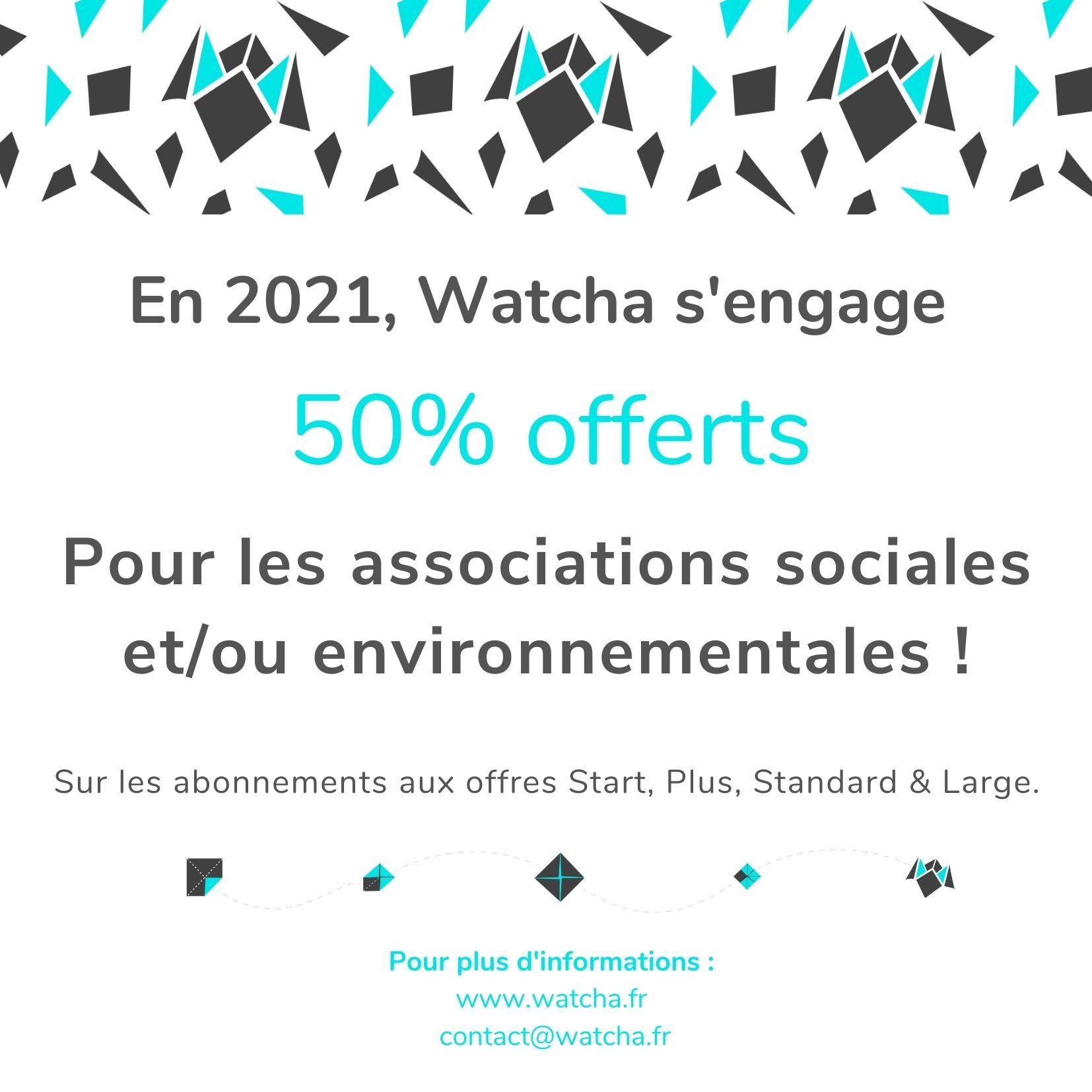 Watcha_Offre promotionnelle associations impact